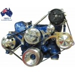 FORD FALCON MUSTANG WINDSOR 289 302 351W SERPENTINE PULLEY AND BRACKET COMPLETE KIT WITH AIR CONDITIONING