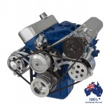 FORD FALCON MUSTANG WINDSOR 289 302 351W VEE BELT PULLEY AND BRACKET COMPLETE KIT WITH AIR CONDITIONING