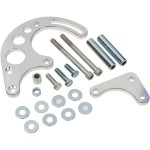 CHEVY SBC ALUMINIUM BILLET HOTROD POWER STEERING BRACKET KIT FOR ELECTRIC WATER PUMP