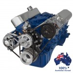 FORD FALCON MUSTANG WINDSOR 289 302 351W VEE BELT PULLEY AND BRACKET COMPLETE KIT AC AND ALTERNATOR