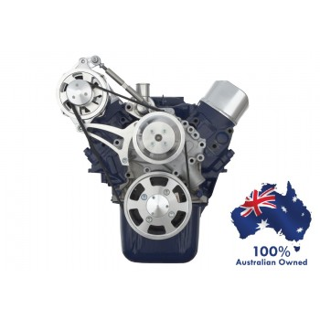 FORD FALCON MUSTANG WINDSOR AU 5.0L SERPENTINE PULLEY/ BRACKET CONVERSION-ALTERNATOR ONLY HIGH MOUNT - SPECIAL COBRA CONFIGURATION - COMPLETE KIT