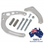 CHEVY SBC ALUMINIUM BILLET HOTROD ALTERNATOR LOW MOUNTING BRACKET KIT FOR SHORT WATER PUMP