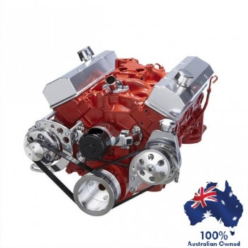CHEVY SBC 283 350 400 SMALL BLOCK SERPENTINE CONVERSION - ALTERNATOR AND POWER STEERING  ELECTRIC WATER PUMP