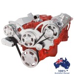 GM HOLDEN CHEVY SBC 283-350-400 ENGINE SERPENTINE KIT -  ALTERNATOR ONLY  PULLEY AND BRACKETS