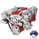 GM HOLDEN CHEVY SBC 283-350-400 ENGINE SERPENTINE KIT -  ALTERNATOR & POWER STEERING  PULLEY AND BRACKETS