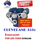 FORD FALCON MUSTANG CLEVELAND 302 351C VEE BELT PULLEY BRACKET SET INCLUDING ALTERNATOR+SAGINAW PUMP