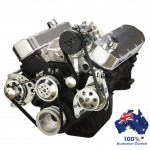 Chevy Big Block Pulley and Bracket Systems Long Water Pump - Serpentine (Electric and Standard Rotation Water Pump)