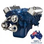FORD FAIRLANE MUSTANG BB ENGINE 429-460 SERPENTINE BELT ALTERNATOR PULLEY&BILLET BRACKET KIT