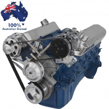 FORD FALCON MUSTANG WINDSOR 302 5.0L SERPENTINE PULLEY& BRACKET SET ALTERNATOR AND AIR CONDITIONING