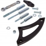 FORD FALCON MUSTANG WINDSOR 351W  VEE BELT ALTERNATOR BILLET BRACKET USE WITH ELECTRIC WATER PUMP  BLACK FINISH