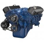 FORD FAIRLANE MUSTANG BB ENGINE 429-460 SERPENTINE BELT ALTERNATOR PULLEY&BILLET BRACKET KIT BLACK FINISH