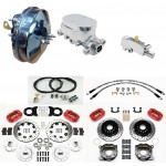 "FORD MUSTANG COMPLETE DISC/ DISC BRAKE SYSTEM 67-70 CHROME 9"" BRAKE BOOSTER KIT WILWOOD DISC FRONT AND REAR ALL PARTS"