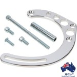 CHEVY SBC ALUMINIUM BILLET HOTROD ALTERNATOR MOUNTING BRACKET KIT FOR LONG WATER PUMP