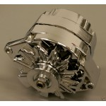"HOLDEN 253 308 HOT ROD CHROME 120AMP ALTERNATOR AND PASSENGER SIDE BRACKET PACKAGE ""SPECIAL"""