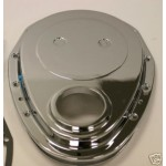 CHEVY SBC BILLET ALUMINIUM TIMING COVER KIT CHROMED HEAVY DUTY