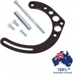 CHEVY SBC ALUMINIUM BILLET HOTROD ALTERNATOR MOUNTING BRACKET KIT FOR LONG WATER PUMP - BLACK DIPPED