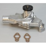 CHEVY SBC SHORT WATER PUMP ALUMINUM POLISHED HIGH VOLUME STAINLESS BOLT KIT INCLUDED BEST AVAILAILABLE