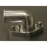 CHEVY SBC BILLET ALUMINUM  90 DEG ROTATING WATER OUTLET