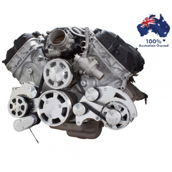 FORD FALCON MUSTANG COYOTE 5.0 SERPENTINE PULLEY AND BRACKET COMPLETE KIT WITH ALTERNATOR AIR CONDITIONING ALL INCLUSIVE