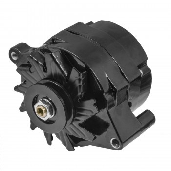 FORD FALCON MUSTANG HOTROD BLACK FINISH ALTERNATOR 120 AMP ONE WIRE CONNECTION
