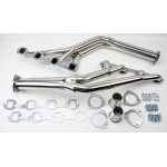 FORD FALCON MUSTANG 289 302 351W WINDSOR POLISHED STAINLESS TRI Y LONG HEADER/EXTRACTORS