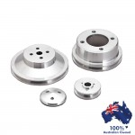 FORD FALCON MUSTANG WINDSOR 289 302 351W PULLEY SET 1 GROOVE WATER PUMP CRANK & ALT - 4 BOLT  69 +