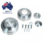 FORD FALCON MUSTANG CLEVELAND 302 351C PULLEY SET 2 GROOVE WATER PUMP CRANK & ALT - 4 BOLT  69 +