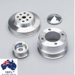 FORD FALCON MUSTANG WINDSOR 289 302 351W SERPENTINE PULLEY SET 6 GROOVE WATER PUMP CRANK & ALT - 4 BOLT  69 +