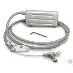CHEVY HOLDEN HOT ROD GM TH400 LOKAR KICKDOWN CABLE STAINLESS BRAID - ELECTRONIC