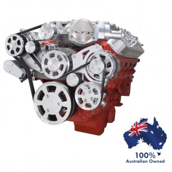 GM HOLDEN CHEVY LSA / LS 9 ENGINE SERPENTINE KIT - AC AIR COMPRESSOR, ALTERNATOR & POWER STEERING