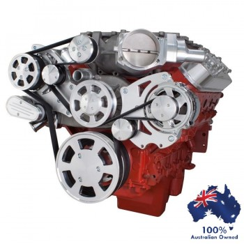 GM HOLDEN CHEVY LSA / LS 9 ENGINE SERPENTINE KIT - AC AIR COMPRESSOR AND ALTERNATOR