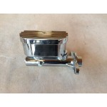 FORD FALCON MUSTANG 67,70-72 CHROME BRAKE MASTER CYLINDER - COMPACT SUITS DISC/DRUM OR DISC/DISC