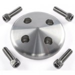 CHEVY GM SBC BBC HOT ROD LONG WATER PUMP PULLEY COVER - BILLET ALUMINIUM WITH BOLTS