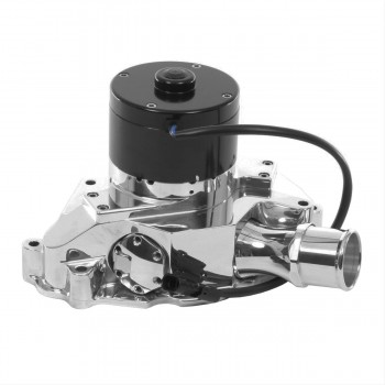 FORD FALCON MUSTANG CLEVOR AND WINDSOR 302 351 ELECTRIC WATER PUMP WITH BACKING PLATE - 55 GPM CHROME FINISH