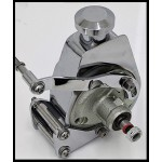 CHEVY SBC 350, 383, 327 CHROME BILLET HOTROD POWER STEERING BRACKET KIT LONG AND SHORT WATER PUMP
