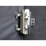 CHEVY FORD HOT ROD SAGINAW - BORGESON TYPE 2 CHROME POWER STEERING PUMP REMOTE RESERVOIR
